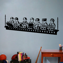 Lego Workers Wall Sticker