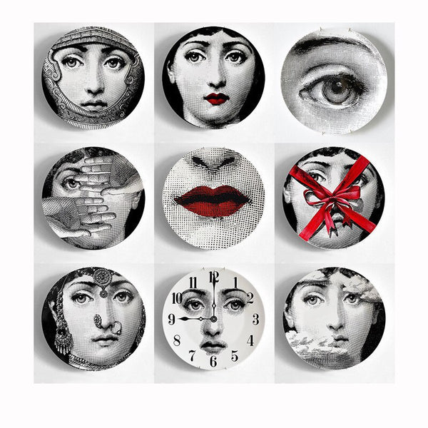 Fornasetti Decorative Dishes Set 9 pcs (8'', 20cm)