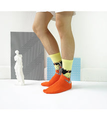 Art themed, Men Socks: La Goulue