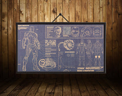 Iron Man Tech Drawings Poster