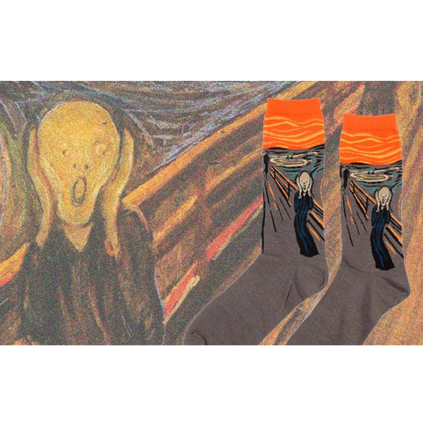 Art themed, Men Socks: The Scream-Socks-Wantalo