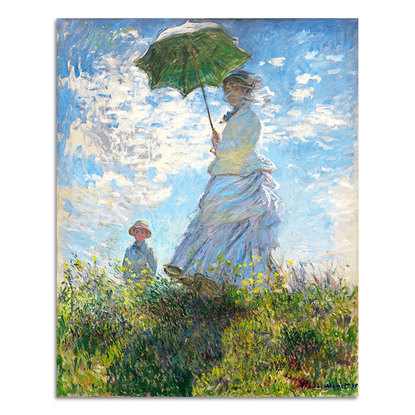 Woman with a Parasol, Painting-Paintings-Wantalo