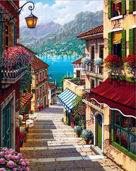 Italian Landscape Paint by Numbers Kit