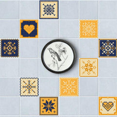 Pixel Love Wall Tiles Stickers