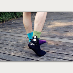 Art themed, Men Socks: Mona Lisa
