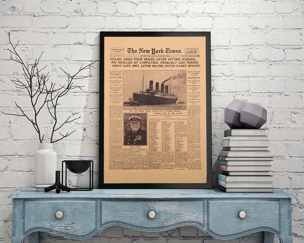 Titanic Newspaper Poster-Posters-Wantalo