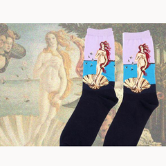 Art themed, Women Socks: The Birth of Venus