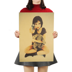 Mathilda with a gun Poster