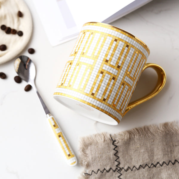 Luxury Mugs with Spoons-Tea & Coffee-Wantalo