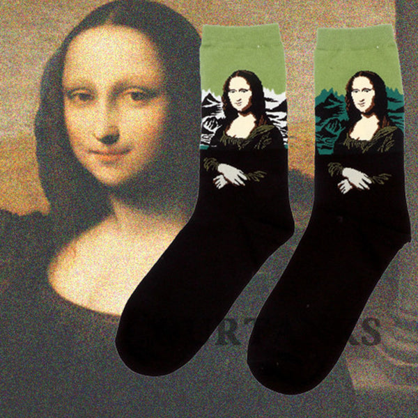 Art themed, Men Socks: Mona Lisa-Socks-Wantalo
