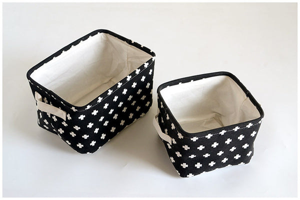 Black Fabric Storage Basket - Storage Solutions - wantalo.com