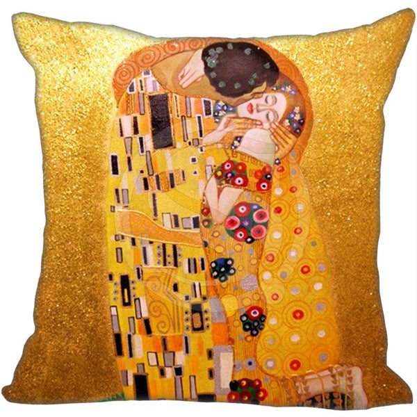 The Kiss, Decorative Pillowcase-Pillows-Wantalo