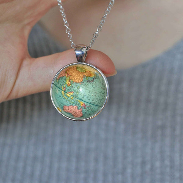 World Map Pendant Necklace-Necklaces-Wantalo