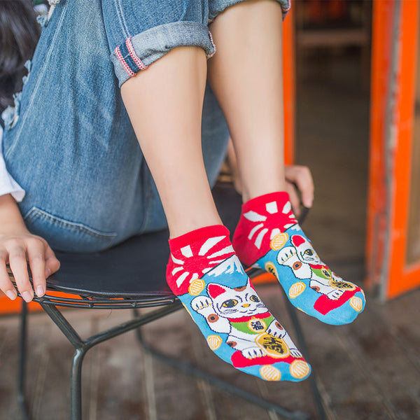 Women's Japanese Ankle Socks-Socks-Wantalo