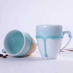 Dripping Glaze Ceramic Mugs