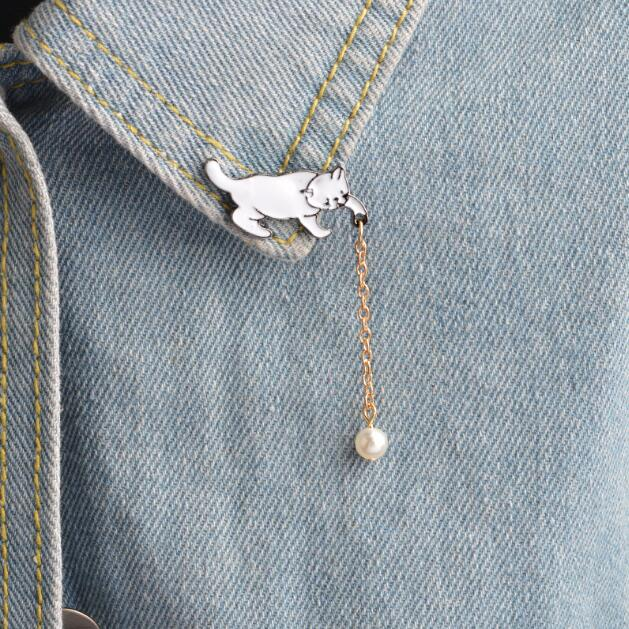 Handcrafted Sterling Silver Cat Themed Pin By Del Mundo