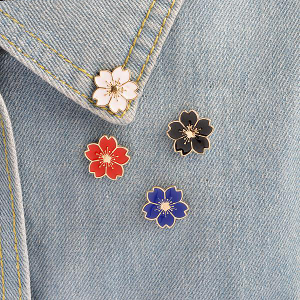 Cherry Blossoms Enamel Pins - Pins & Patches - wantalo.com