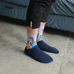 Art themed, Men Socks: The birth of Venus