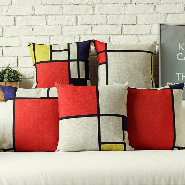 Mondrian Design Pillowcases - Pillows - wantalo.com