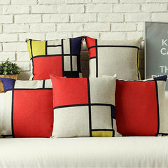 Mondrian Design Pillowcases