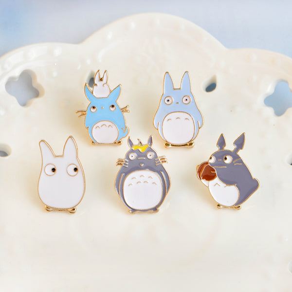 Totoro Enamel Pins Set-Pins & Patches-Wantalo