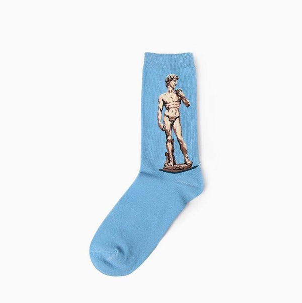 Art themed, Men Socks: David-Socks-Wantalo