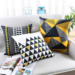 Yellow Geometrical Patterns Pillowcases
