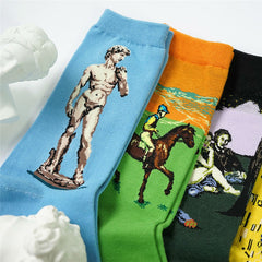 Art themed, Women Socks: David