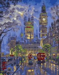 London Painting By Numbers Kit
