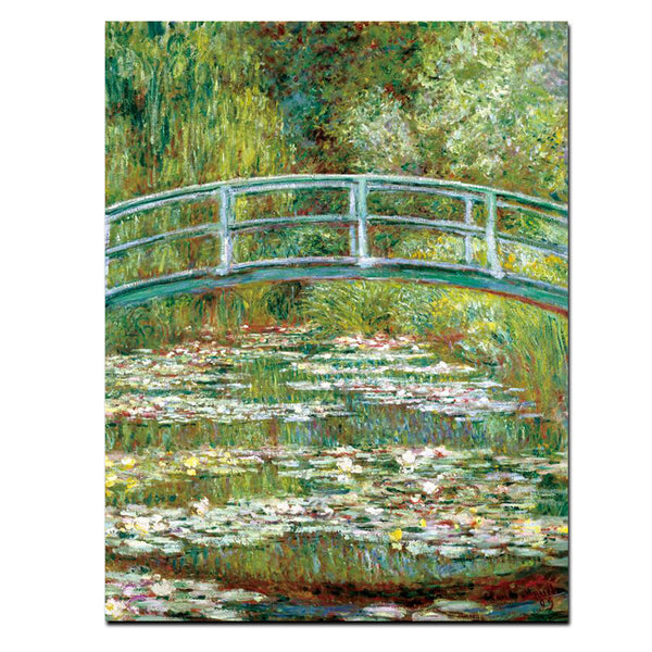 The Japanese Footbridge, Painting-Paintings-Wantalo