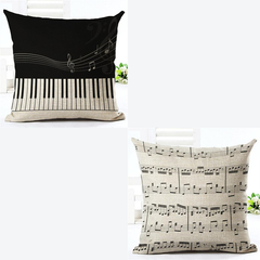 Piano and Notes Pillowcases
