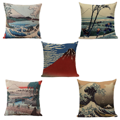 Japanese Antique Views, Pillowcases
