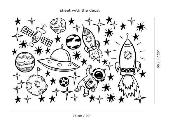 Space Objects Wall Decals-Wall Stickers-Wantalo
