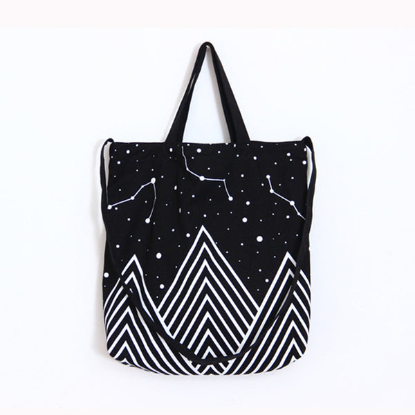 Mountains and Stars, Large Shopping Bag - Bags - wantalo.com