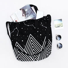 Mountains and Stars, Large Shopping Bag