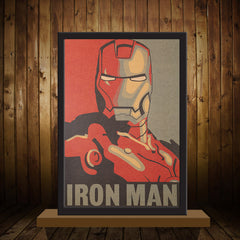 Iron Man Retro Poster