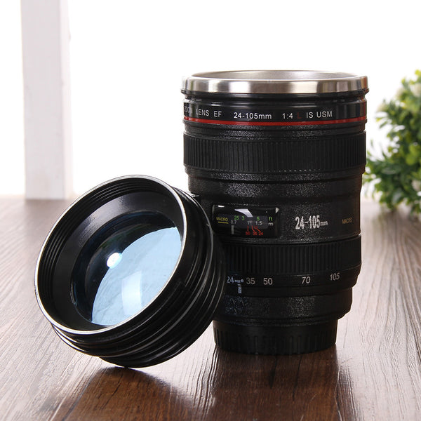 Camera Lens Mug with Lid - Tea & Coffee - wantalo.com