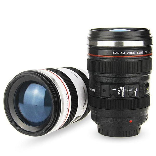 Camera Lens Mug with Lid-Tea & Coffee-Wantalo