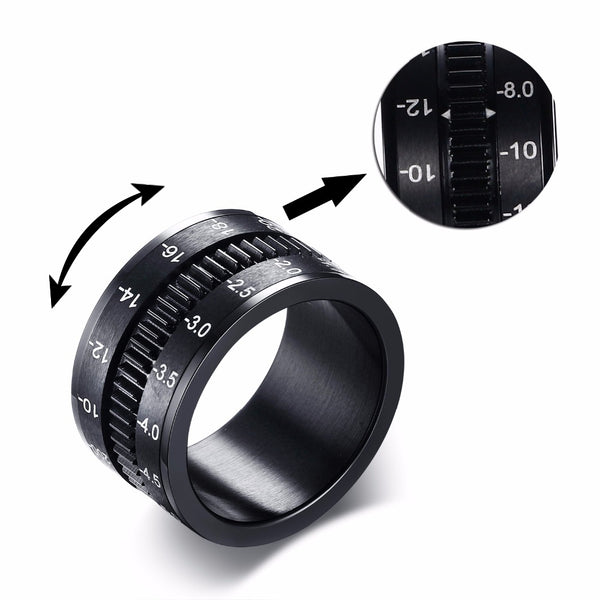 Camera Lens Men Ring-Rings-Wantalo