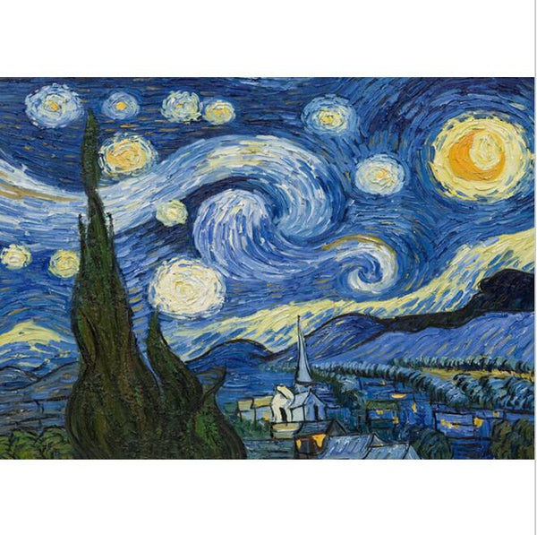 Starry Night, Paint by Numbers Kit-Paintings-Wantalo