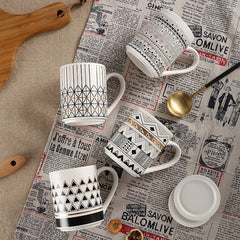 Mugs with Lid, Tribal Patterns
