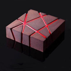 Elegant Grid Blocks 3D Cake Mold