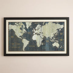World Map Retro Painting