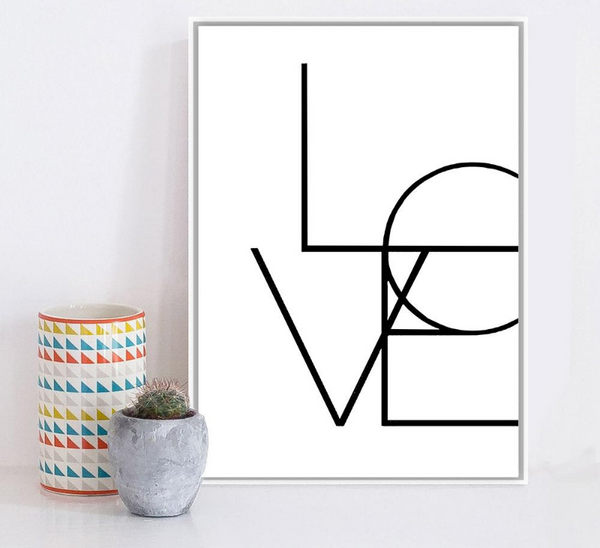 Minimal Love, Painting-Paintings-Wantalo