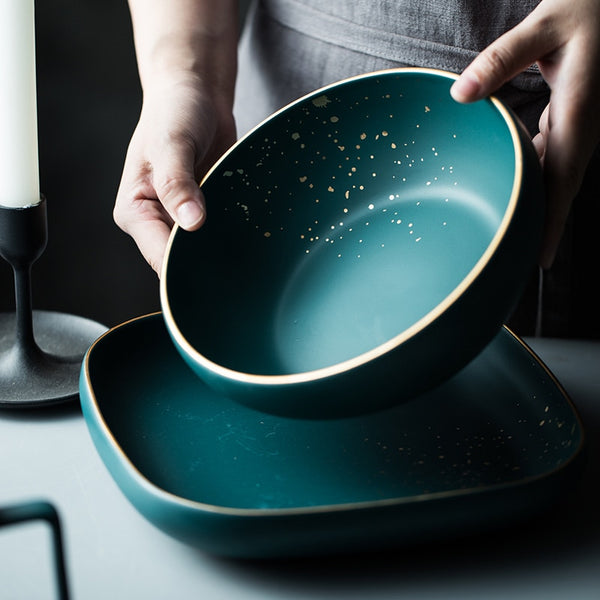 Speckled Matte Grey Dinnerware-Tableware-Wantalo