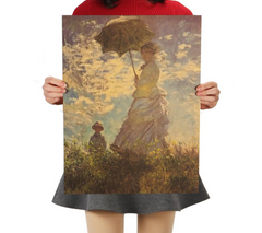 Woman with a Parasol, Poster
