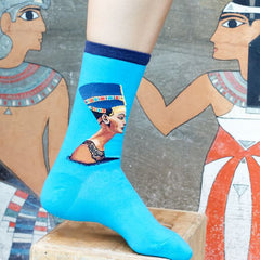 Art themed, Women Socks: Nefertiti