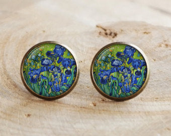 Irises, Earrings-Earrings-Wantalo