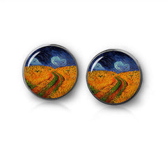 Wheatfield with Crows, Earrings