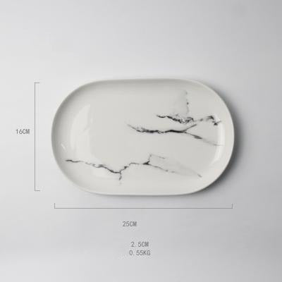 Marble Design Ceramic Plates-Tableware-Wantalo